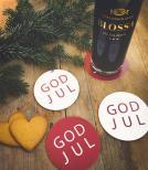 Glasunderlägg - God Jul