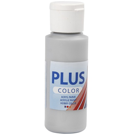 Hobbyfärg Plus color - silver, 60 ml