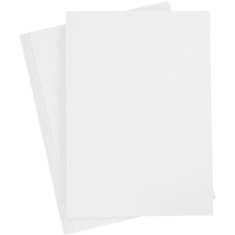 20-pack färgad kartong A4 - snövit