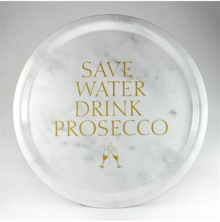 Bricka - Save water drink prosecco