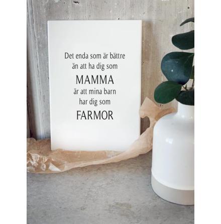Trätavla - Mamma & Farmor