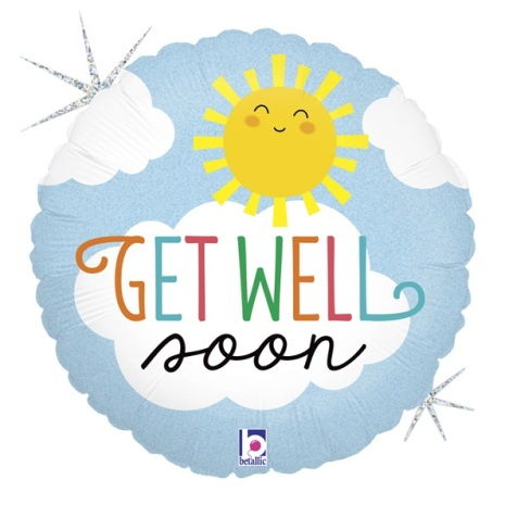 Folieballong - Get well soon