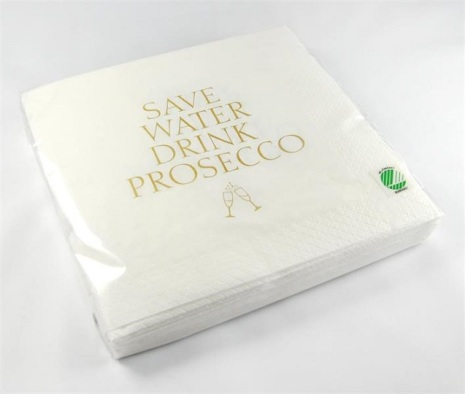 Servetter - Save water drink prosecco