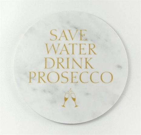 Glasunderlägg - Save water drink prosecco