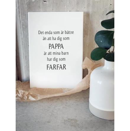 Trätavla - Pappa & Farfar
