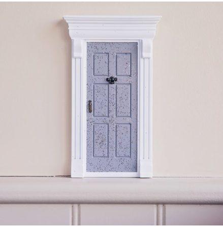 Magisk dörr - grå med glitter