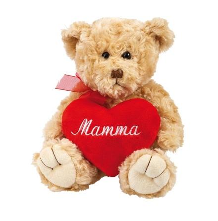 Nalle med hjärta - Mamma