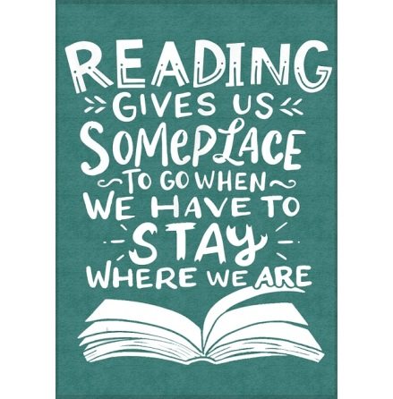 Poster med ram - Reading gives us someplace to go - A4