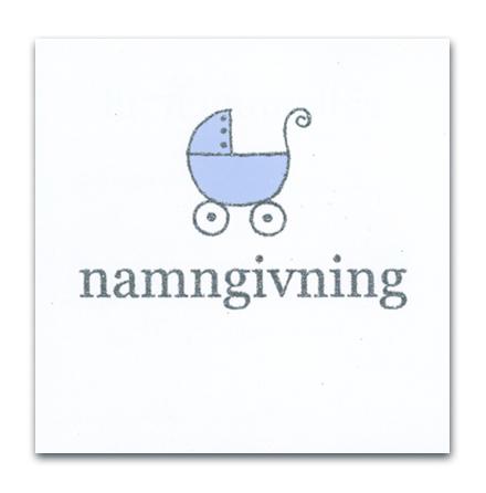 Inbjudan Namngivning - blå