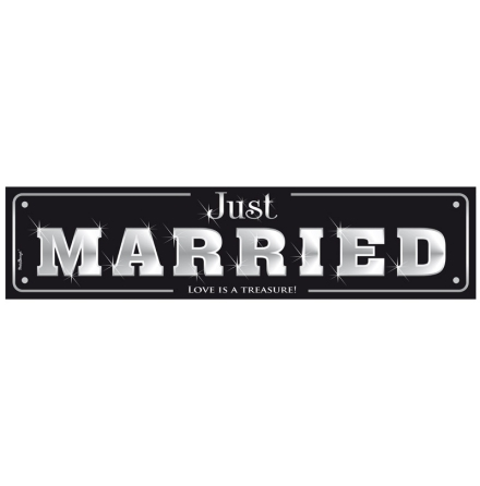 Nummerskylt - Just Married, love is...