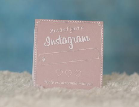 Instagramskyltar - Minna rosa