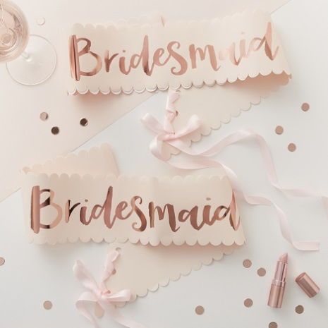 2-pack Ordensband Bridesmaid - Team Bride
