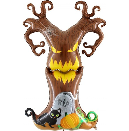 Folieballong Scary tree, 155 cm
