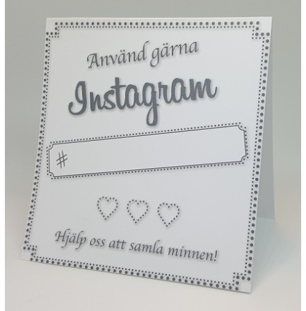 Instagramskyltar - Minna vit