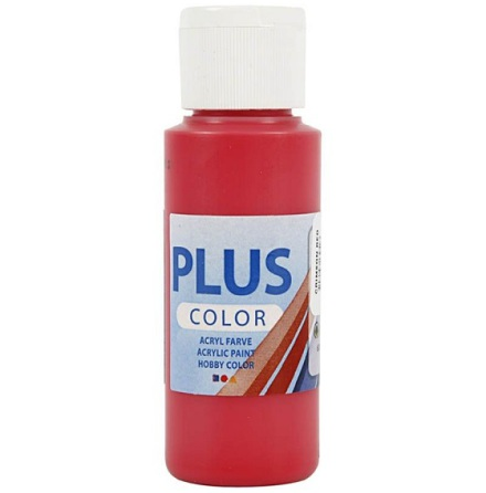 Hobbyfärg Plus color - röd, 60 ml