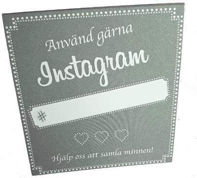 Instagramskyltar - Minna grå
